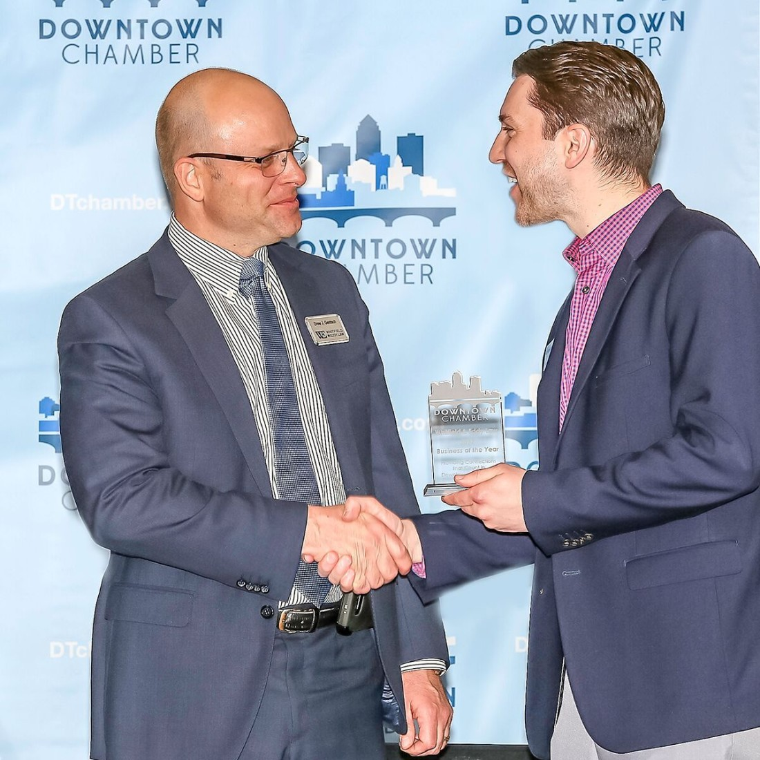 Drew Gentch Downtown Chamber Award 2018